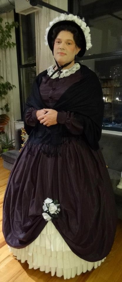 Completed Mary Todd Lincoln costume