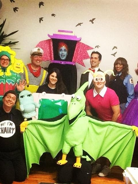 Pee-wee's Playhouse costumes group photo