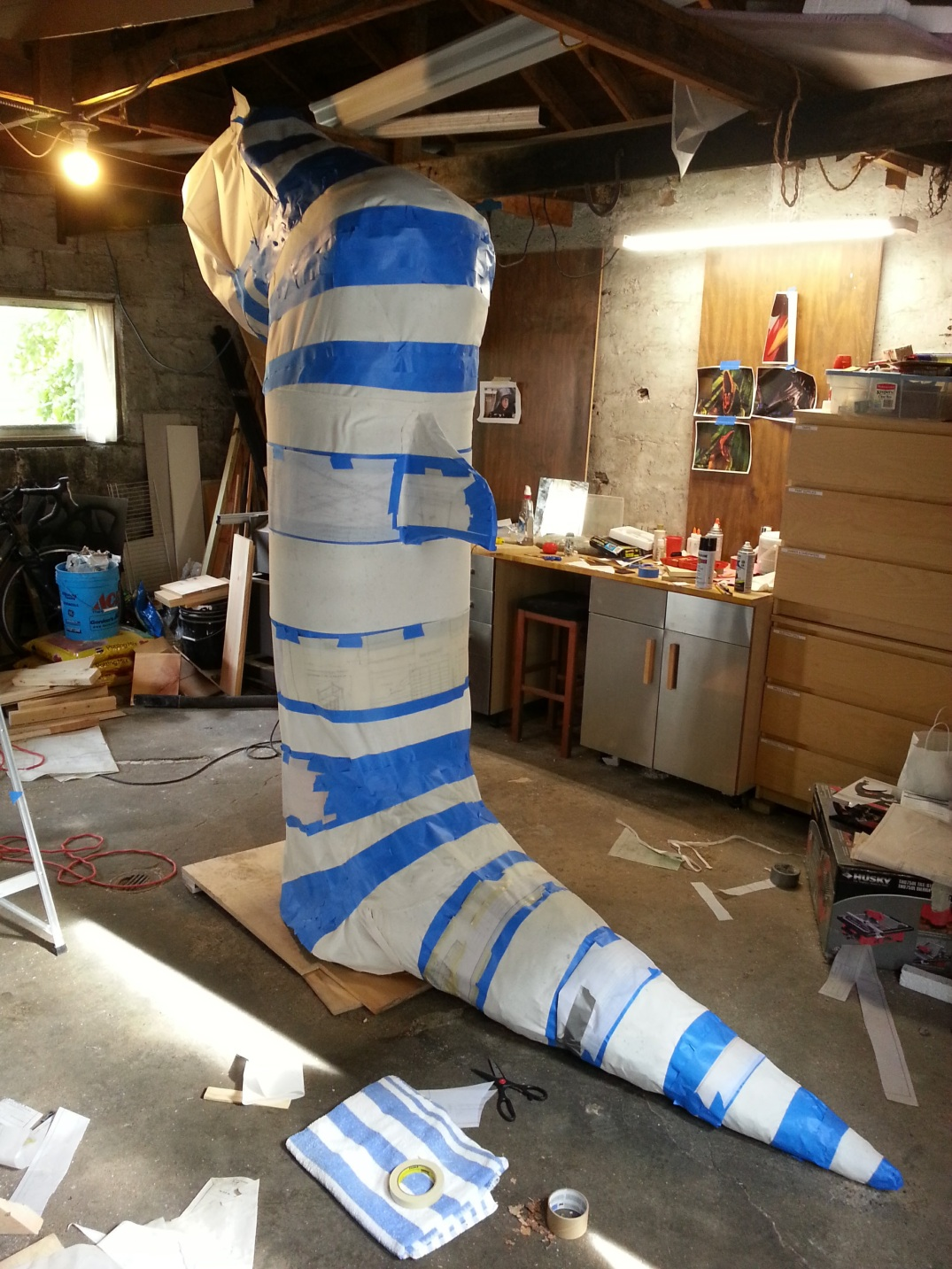 Beetlejuice Sandworm costume WIP10
