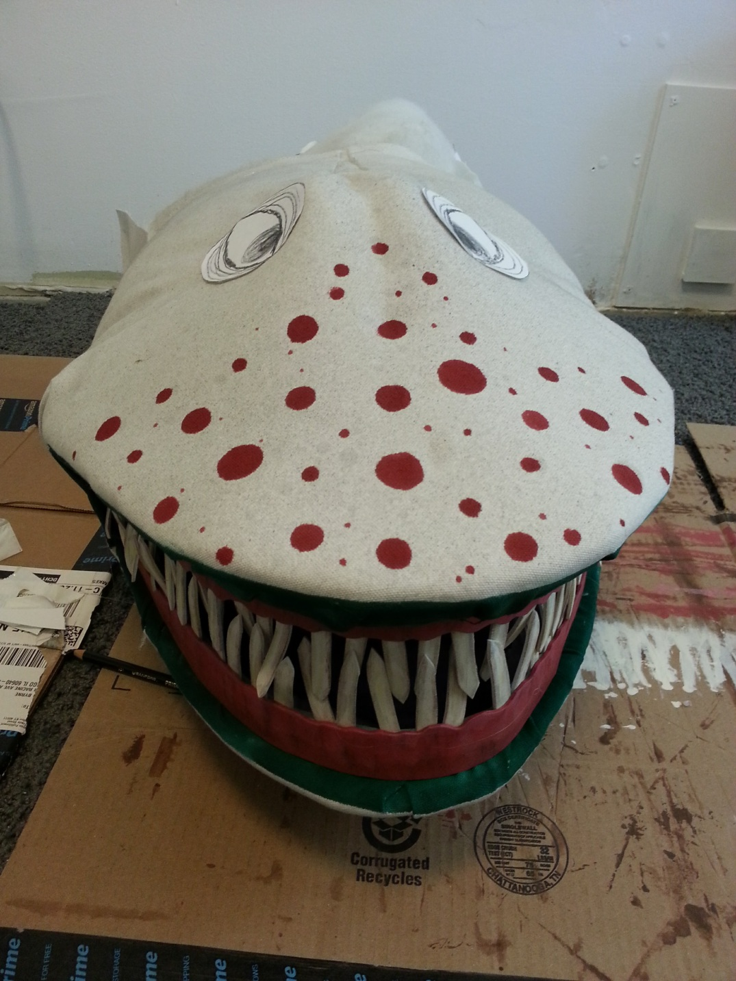 Beetlejuice Sandworm costume WIP2