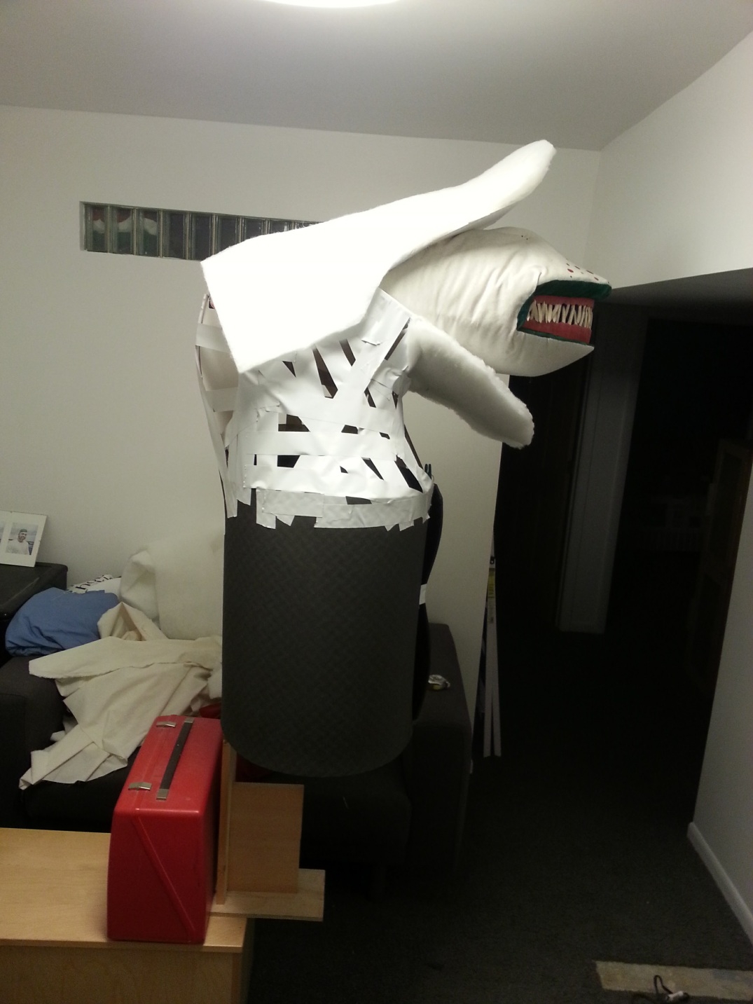Beetlejuice Sandworm costume WIP7