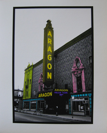 Watercolored photo - Chicago marquees: Aragon