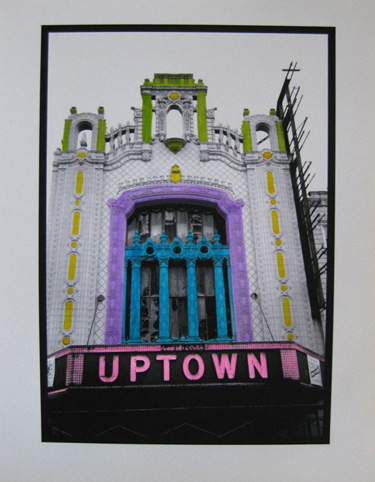 Watercolored photo - Chicago marquees: Uptown Theater
