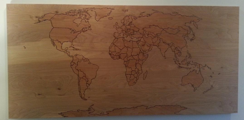 pyrography map