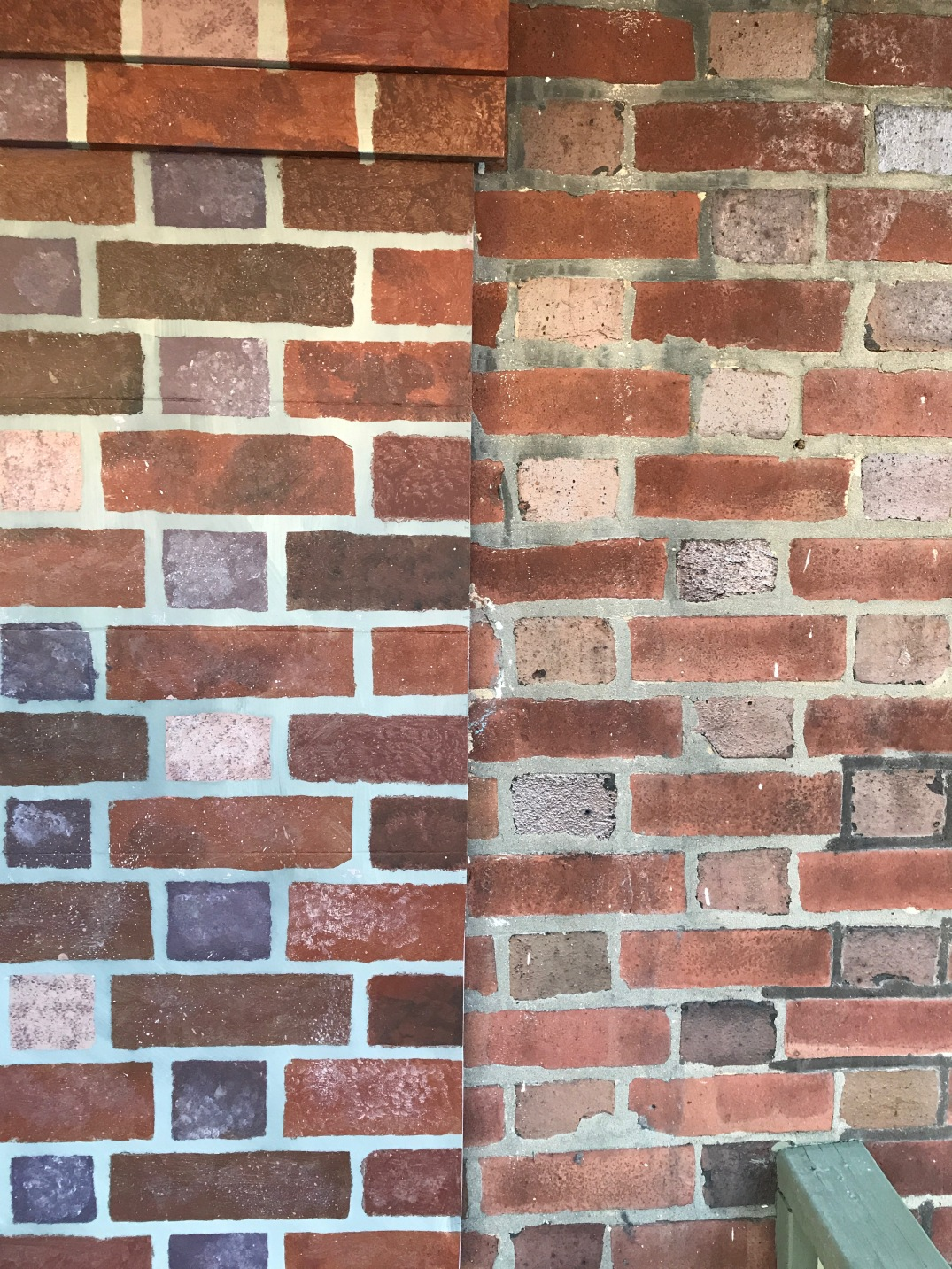 faux brick made from foam