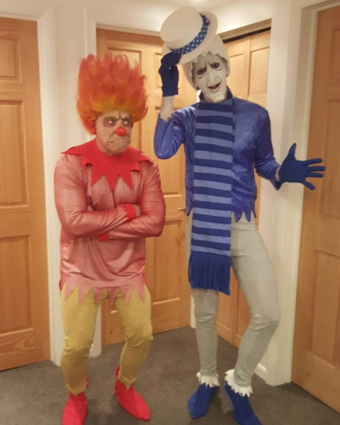 Heatmiser and Snowmiser costumes