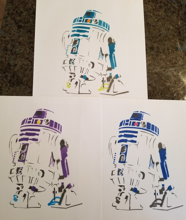 Different color options for R2D2